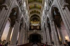 A huge organ in the Catedral de la Almudena