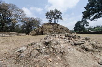 One of the pyramids of Plaza C