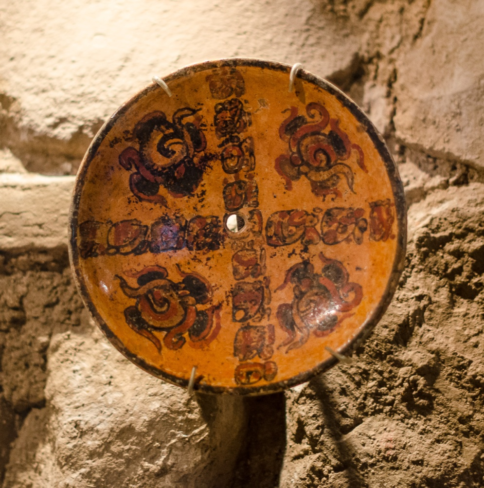 Plates that were buried with people had holes drilled in them to release their spirits too
