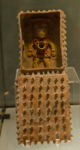 This urn contained a deity with a hole in the navel that symbolised the exit of the spirit of the dead to the upper world