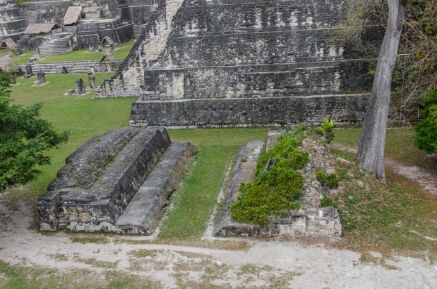 The small (ceremonial) Ball Court by Temple I