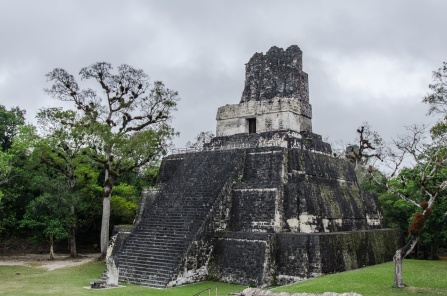 Temple II - the Temple of Masks. Built by the ruling Ah Cacao in 700AD