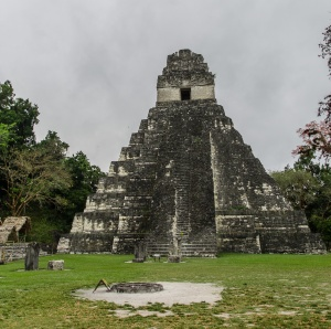 Temple I - the Temple of the Grand Jaguar. 45m high built by Jasaw Chan K'awill whose tomb was inside it.
