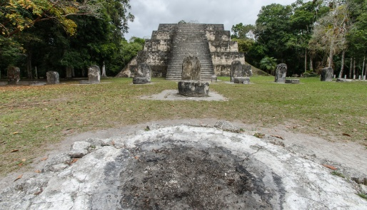 The pit is used for modern Maya ceremonies